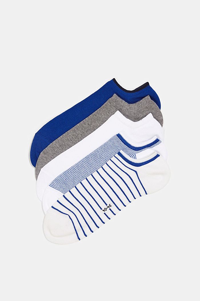 5er-Pack Sneaker-Socken aus Baumwoll-Mix, WHITE, detail image number 2