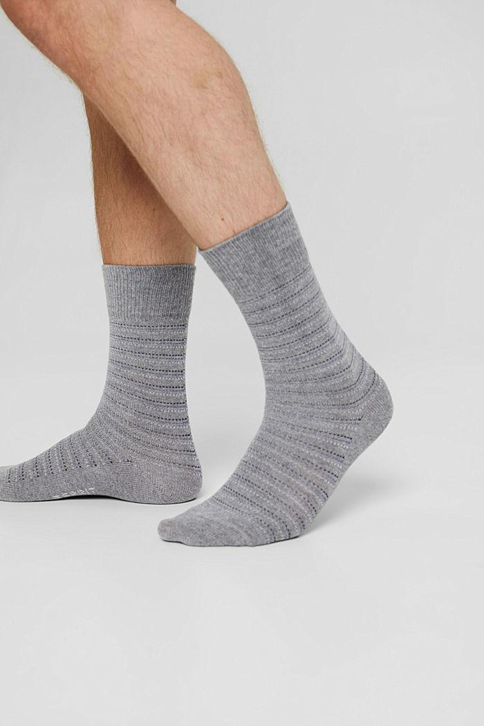 2er-Pack Socken aus Bio-Baumwollmix, LIGHT GREY MELANGE, detail image number 2