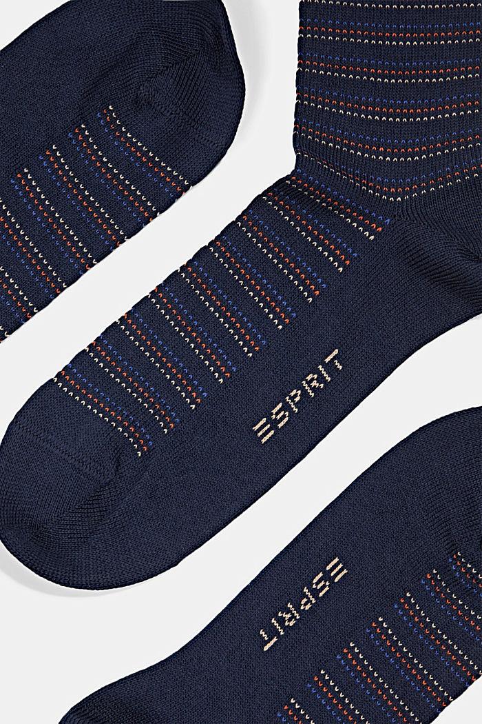 Lot de 2paires de chaussettes en coton bio mélangé, MARINE, detail image number 1