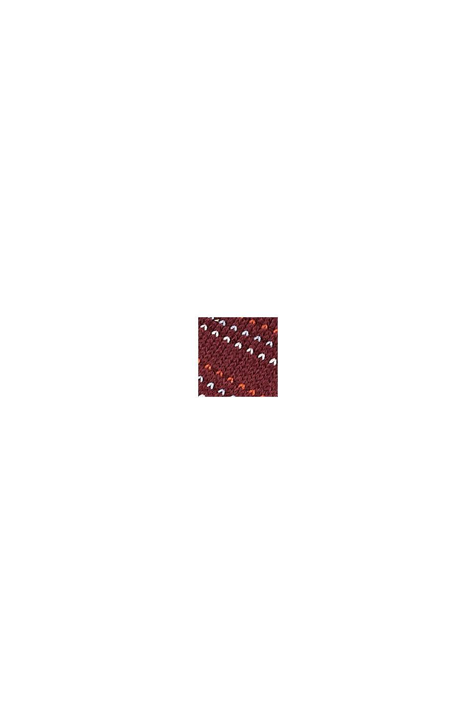 Strumpor i 2-pack i ekobomullsmix, SHADOW RED, swatch