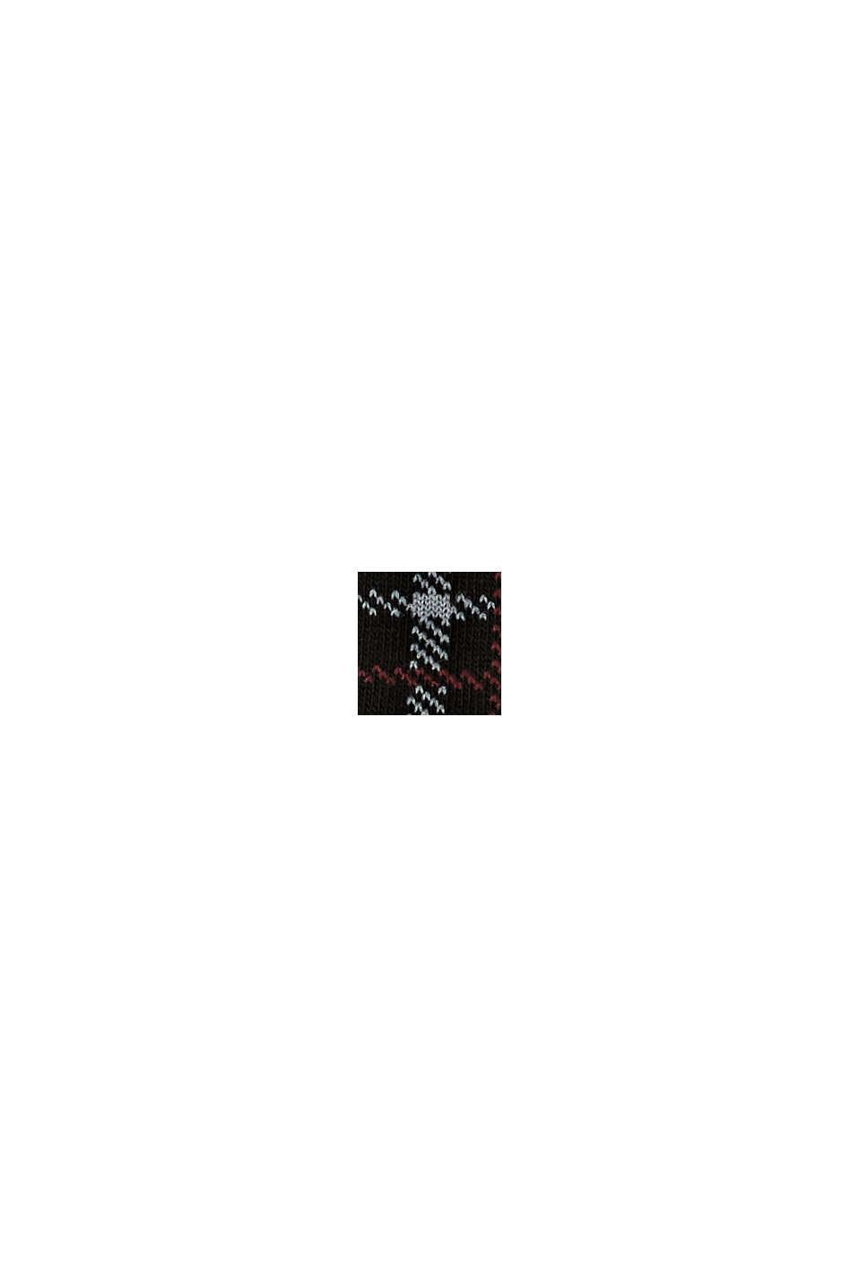 Strumpor i 2-pack i ekobomullsmix, BLACK, swatch