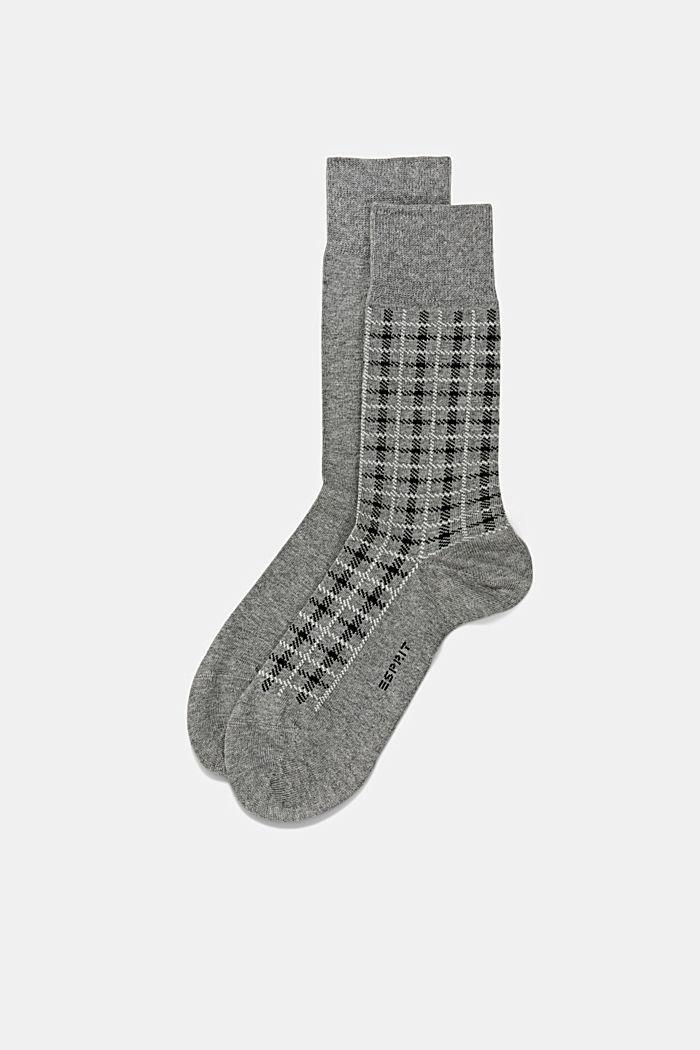 Pack de dos pared de calcetines hechos de algodón ecológico, LIGHT GREY MELANGE, detail image number 0