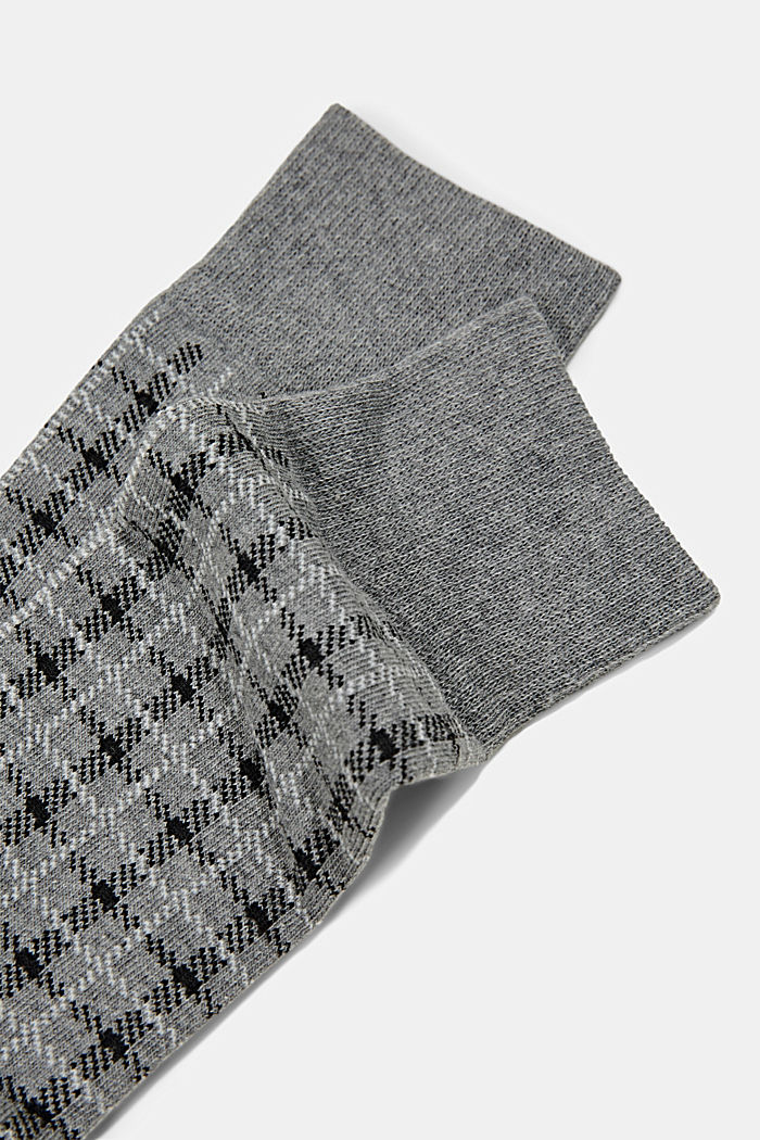 Pack de dos pared de calcetines hechos de algodón ecológico, LIGHT GREY MELANGE, detail image number 1