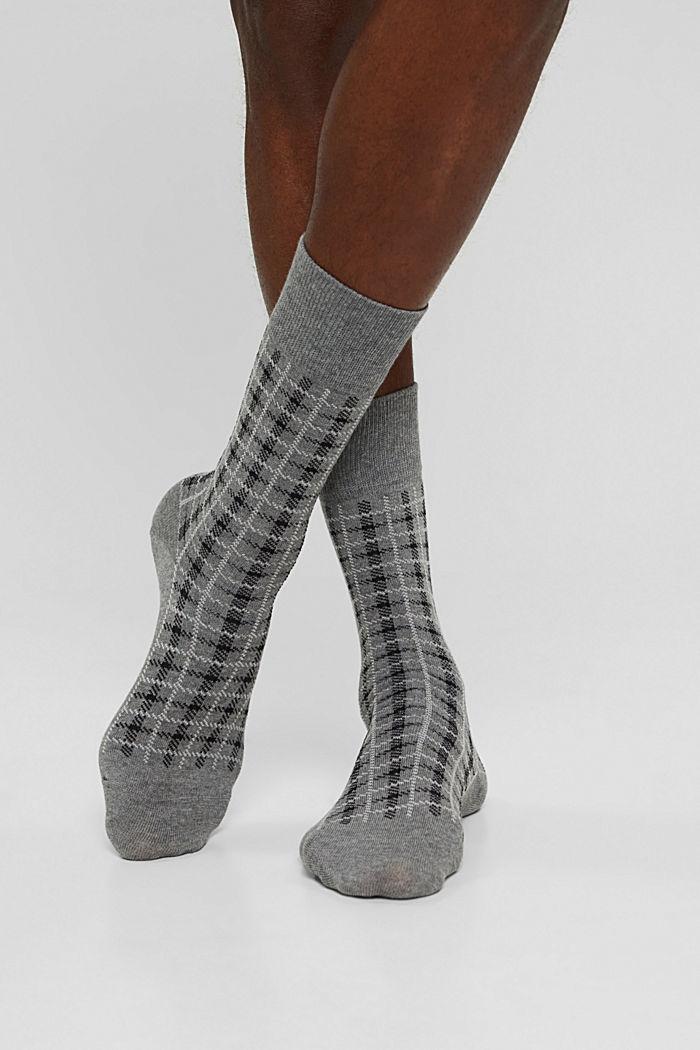 Pack de dos pared de calcetines hechos de algodón ecológico, LIGHT GREY MELANGE, detail image number 2