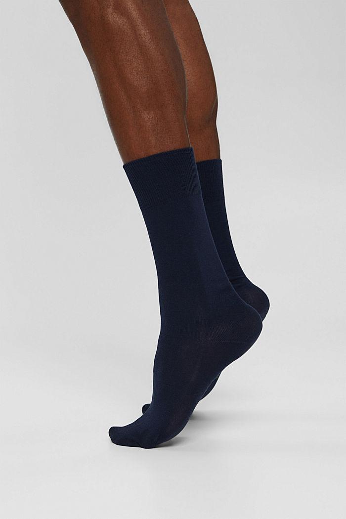 Pack de dos pared de calcetines hechos de algodón ecológico, MARINE, detail image number 2