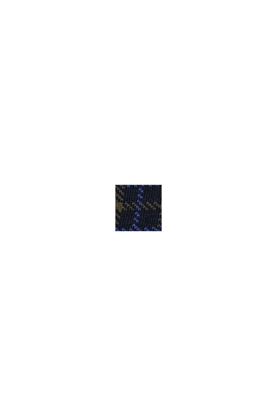 Strumpor i 2-pack i ekobomullsmix, MARINE, swatch