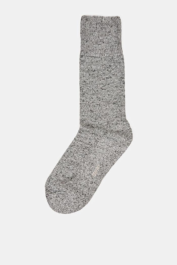 Melanżowe skarpetki z mieszanki bawełnianej, LIGHT GREY MELANGE, detail image number 0