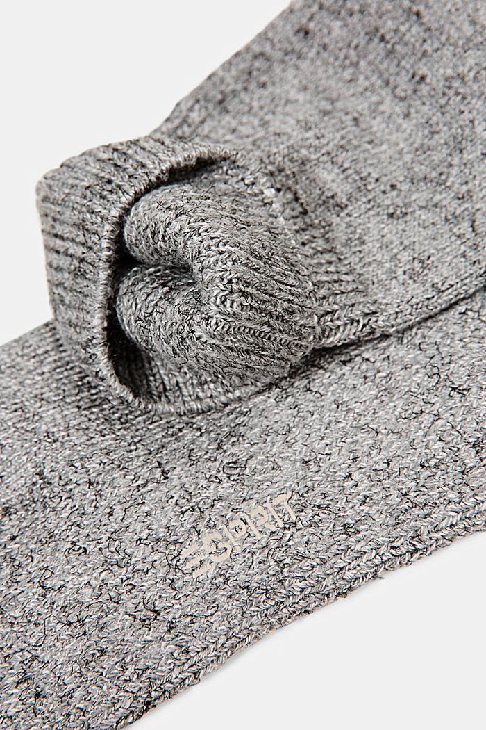 Melanżowe skarpetki z mieszanki bawełnianej, LIGHT GREY MELANGE, detail image number 1