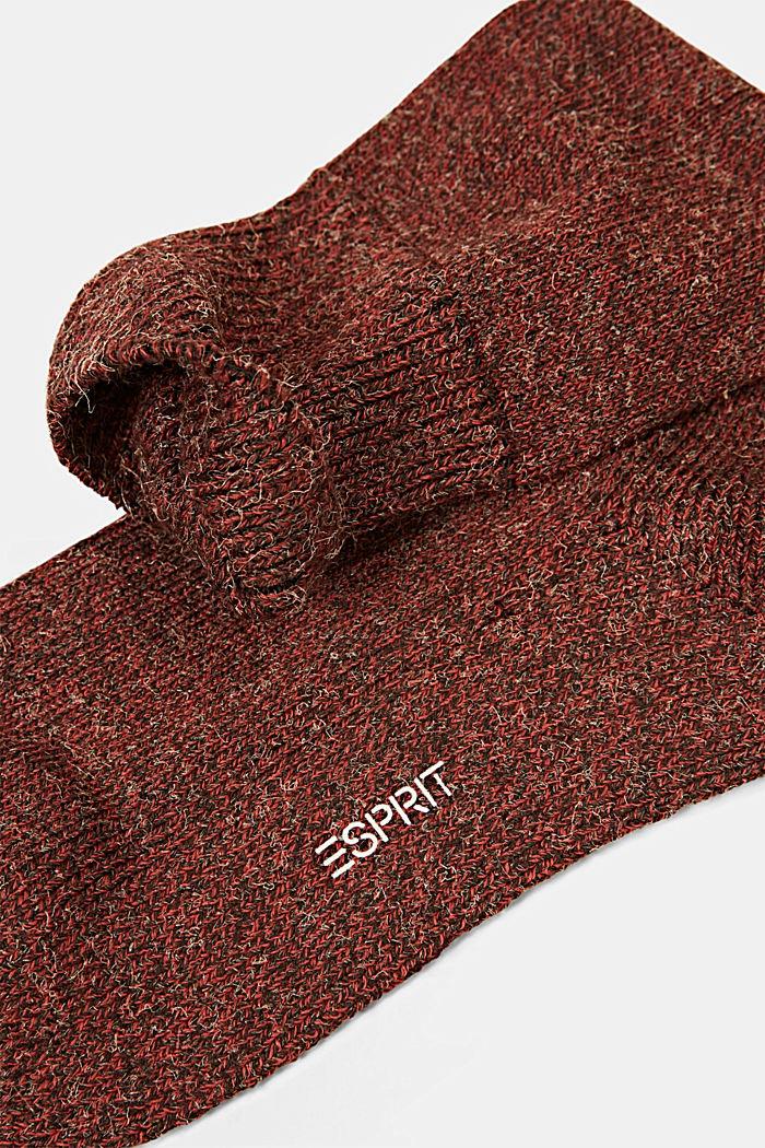 Melierte Socken aus Baumwoll-Mix, HENNA, detail image number 1