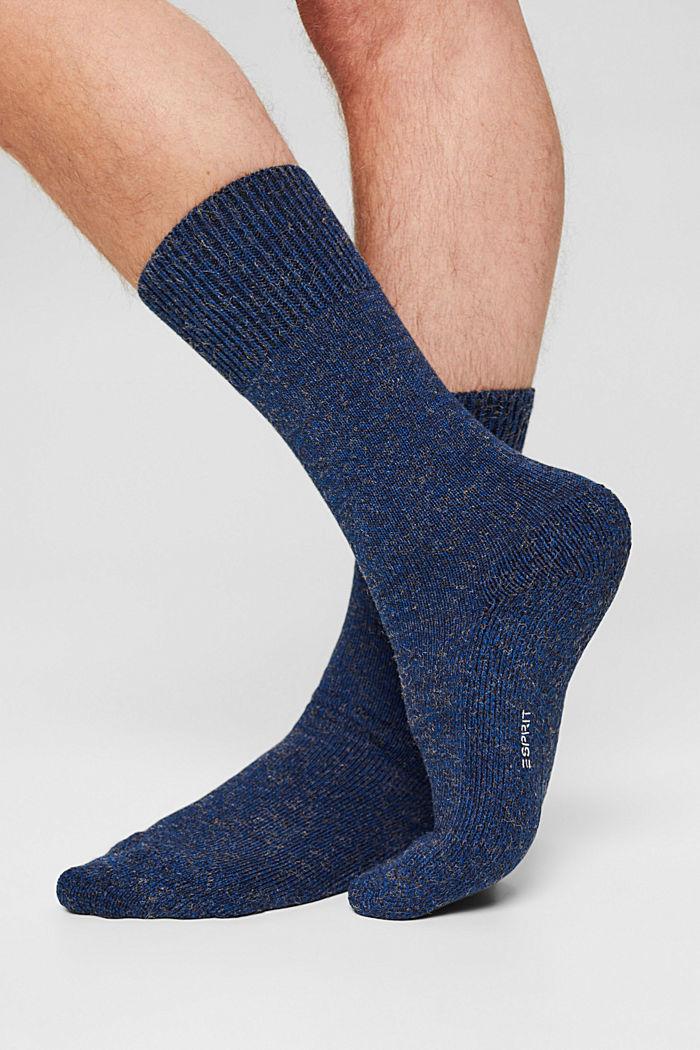 Melierte Socken aus Baumwoll-Mix, CORNFLOWER, detail image number 2