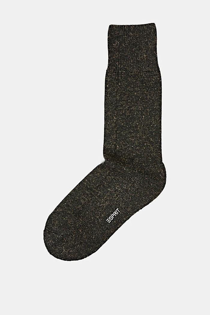 Melírované ponožky ze směsi s bavlnou, MALACHITE, detail image number 0