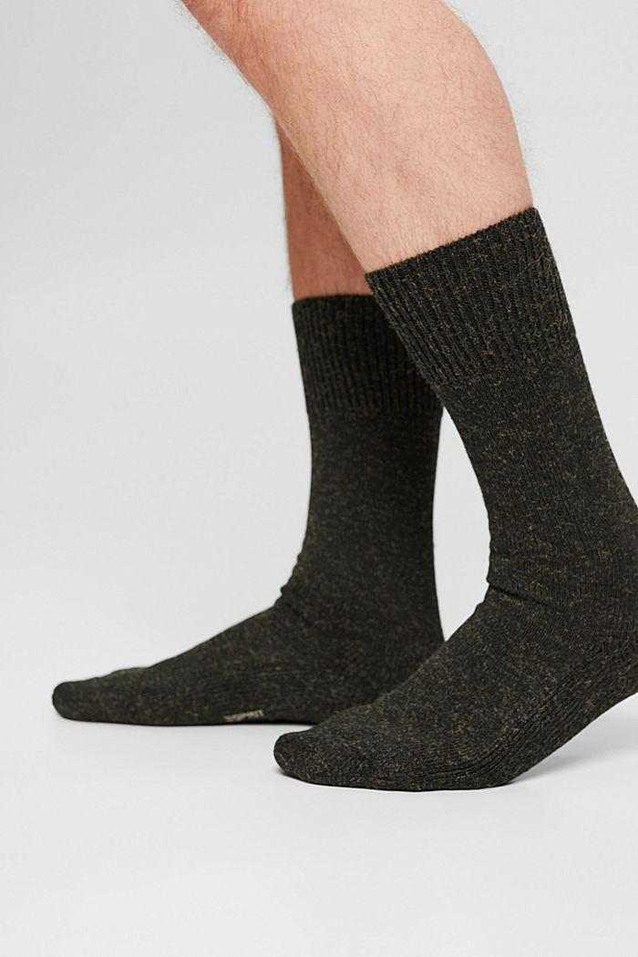 Melírované ponožky ze směsi s bavlnou, MALACHITE, detail image number 2