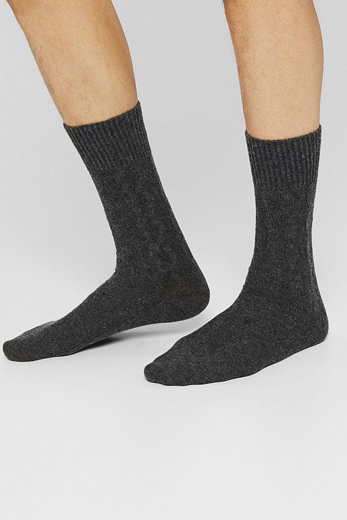 Socks, ANTHRACITE MELANGE, detail image number 2