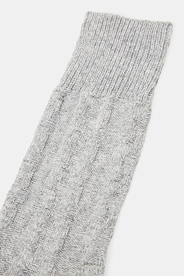 Fashion Socks, LIGHT GREY MELANGE, detail image number 1
