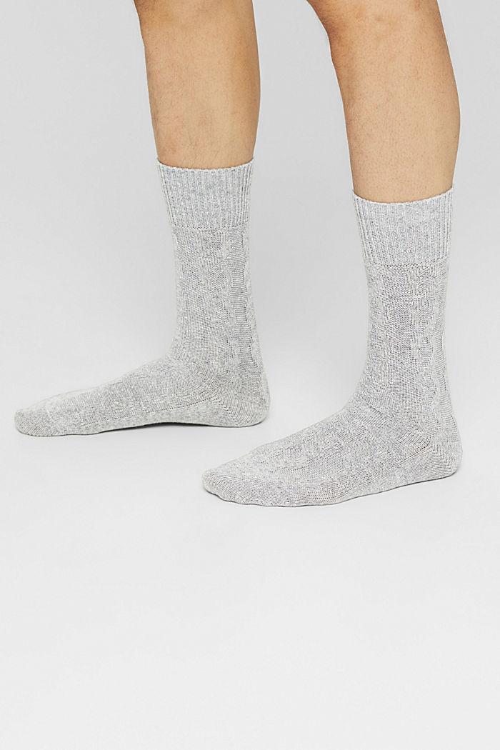 Fashion Socks, LIGHT GREY MELANGE, detail image number 2