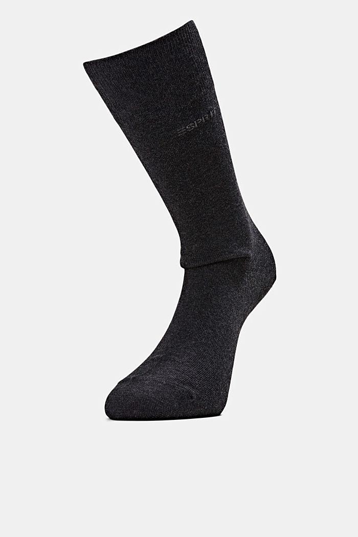 2er-Pack Basic Socken aus Baumwollmix, ANTHRACITE MELANGE, detail image number 2