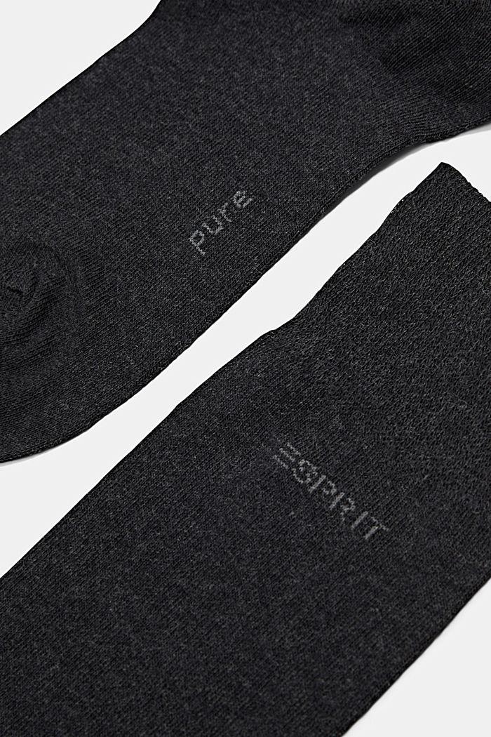 2er-Pack Basic Socken aus Baumwollmix, ANTHRACITE MELANGE, detail image number 1