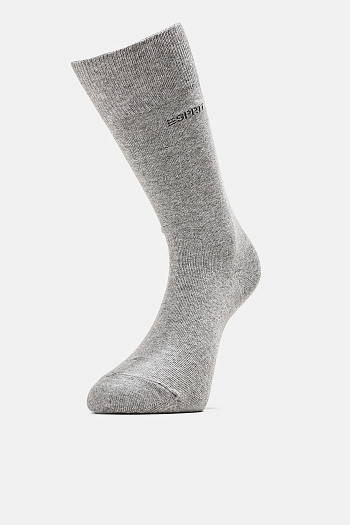 2er-Pack Basic Socken aus Baumwollmix, LIGHT GREY MELANGE, detail image number 2
