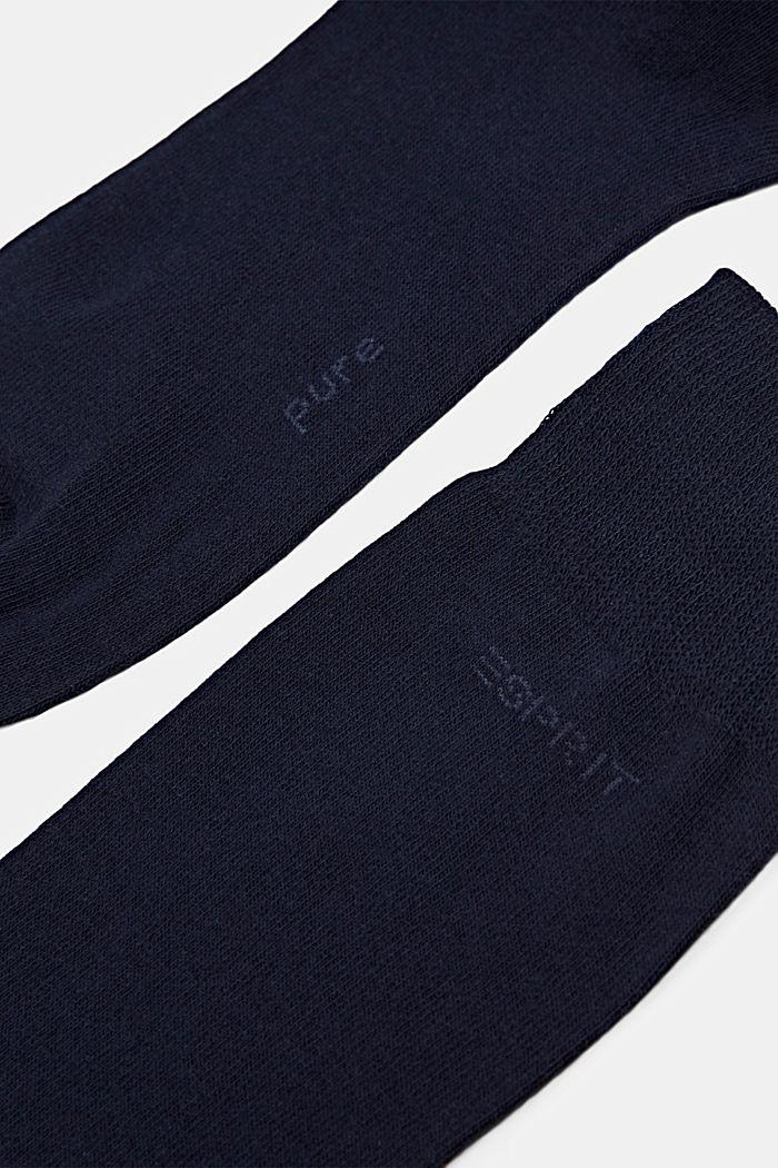 2er-Pack Basic Socken aus Baumwollmix, MARINE, detail image number 1