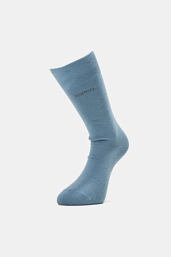 2er-Pack Basic Socken aus Baumwollmix, BLUESTONE, detail image number 0