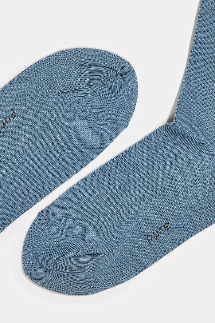 2er-Pack Basic Socken aus Baumwollmix, BLUESTONE, detail image number 1