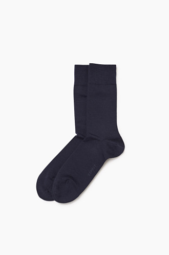 Double pack of fine knit socks with new wool