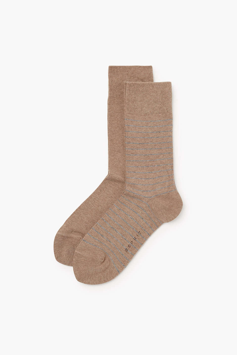 Esprit - Two pack of socks, plain and with stripes