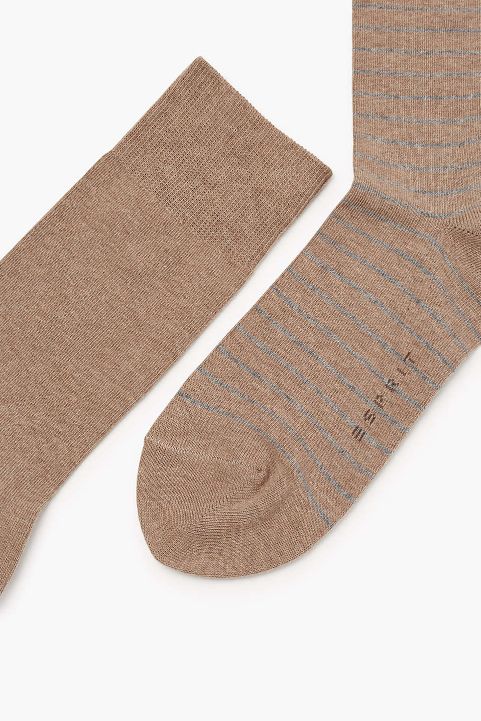 Two pack of socks, plain and with stripes