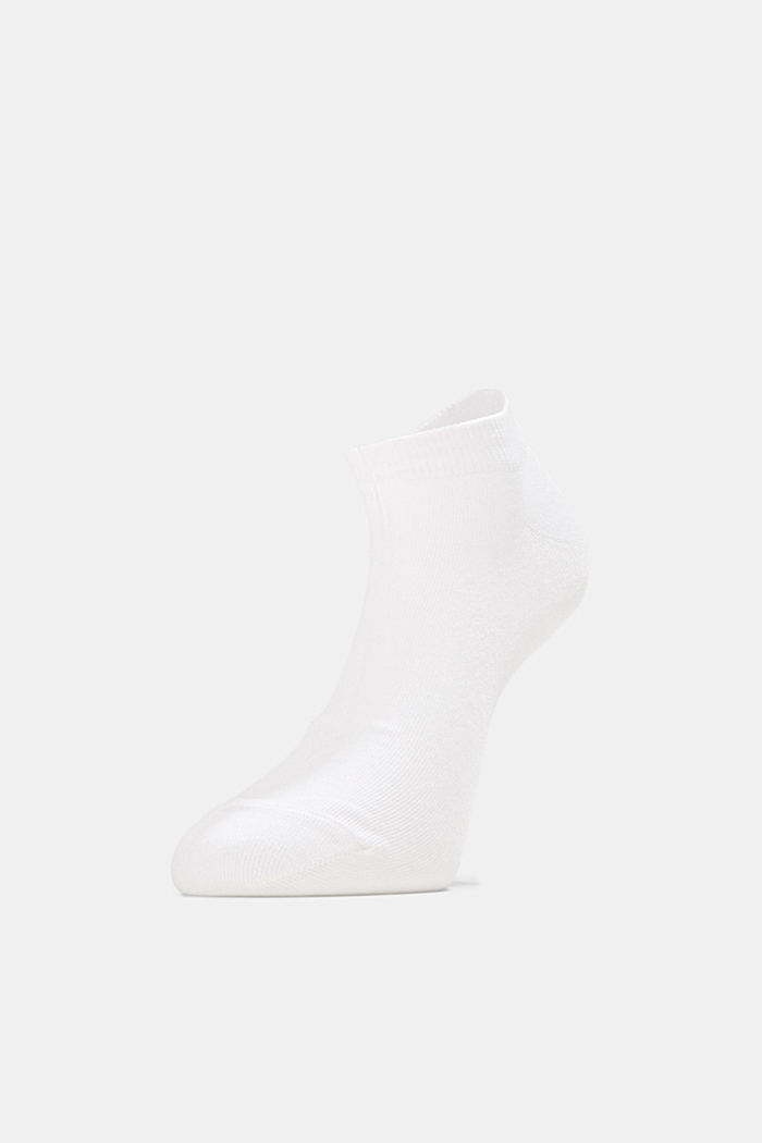 2er-Pack Sneaker-Socken aus Baumwoll-Mix, WHITE, overview