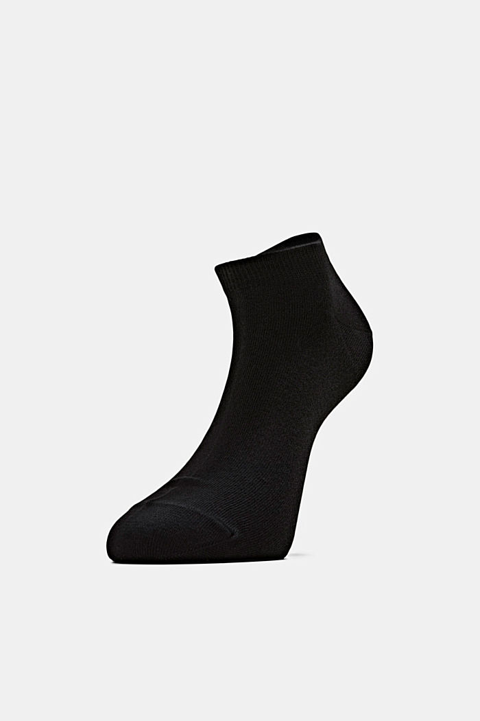 2er-Pack Sneaker-Socken aus Baumwoll-Mix, BLACK, detail image number 0