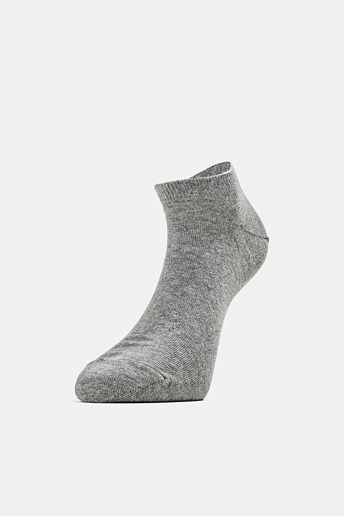 2er-Pack Sneaker-Socken aus Baumwoll-Mix, LIGHT GREY MELANGE, detail image number 1