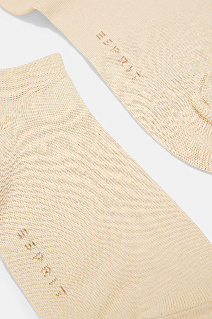 2er-Pack Sneaker-Socken aus Baumwoll-Mix, CREAM, detail image number 1