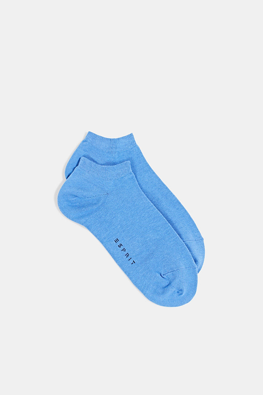 Double pack of blended cotton trainer socks