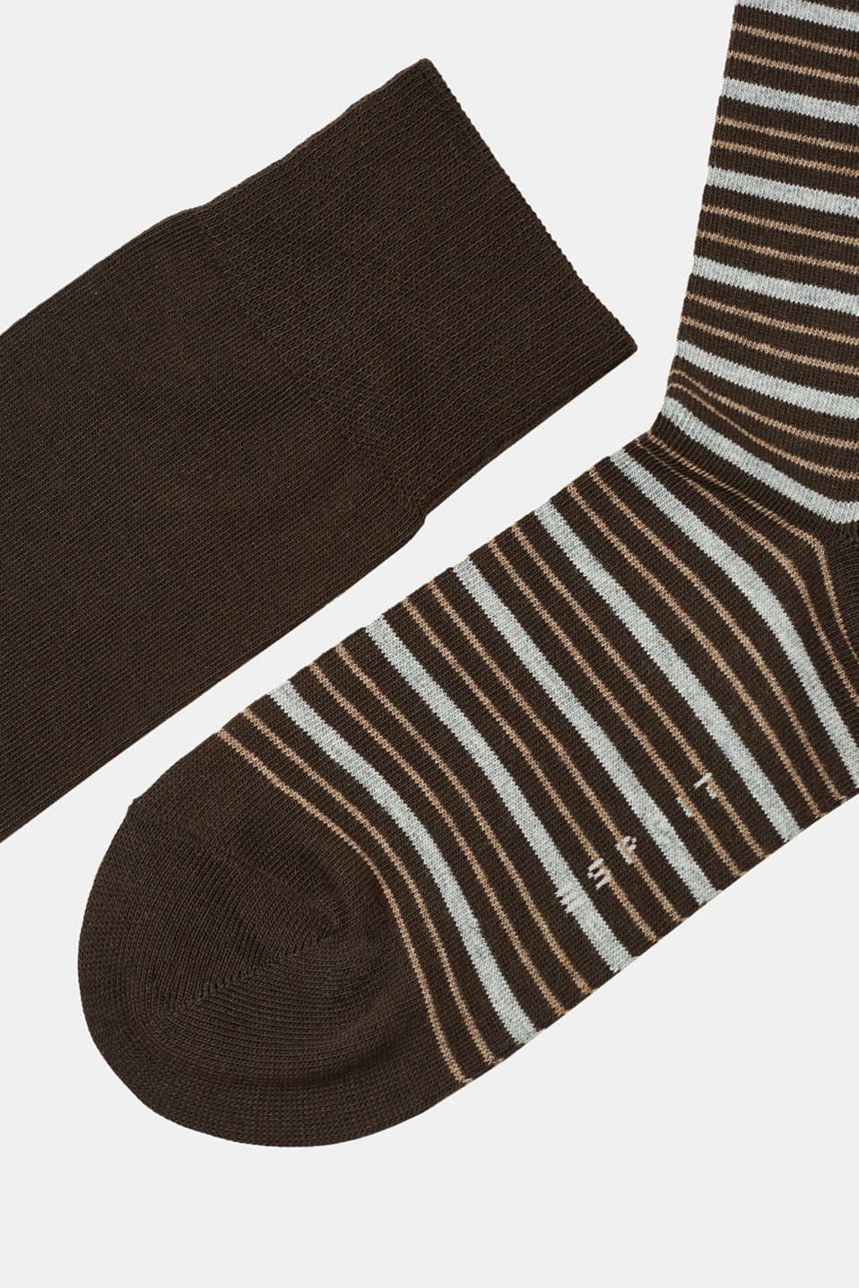 Double pack of socks – plain colour + stripe