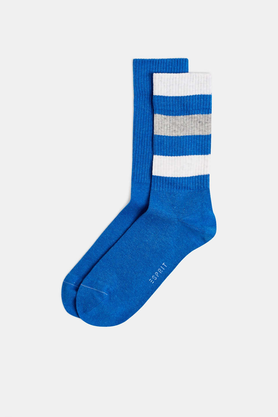 Double pack of blended cotton socks, CORNFLOWER BL, detail image number 0