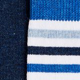 Double pack of socks with stripes, WHITE, swatch