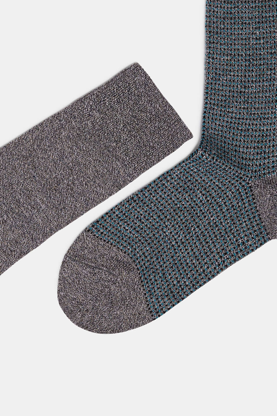 Double pack of blended cotton socks, CINDER, detail image number 1