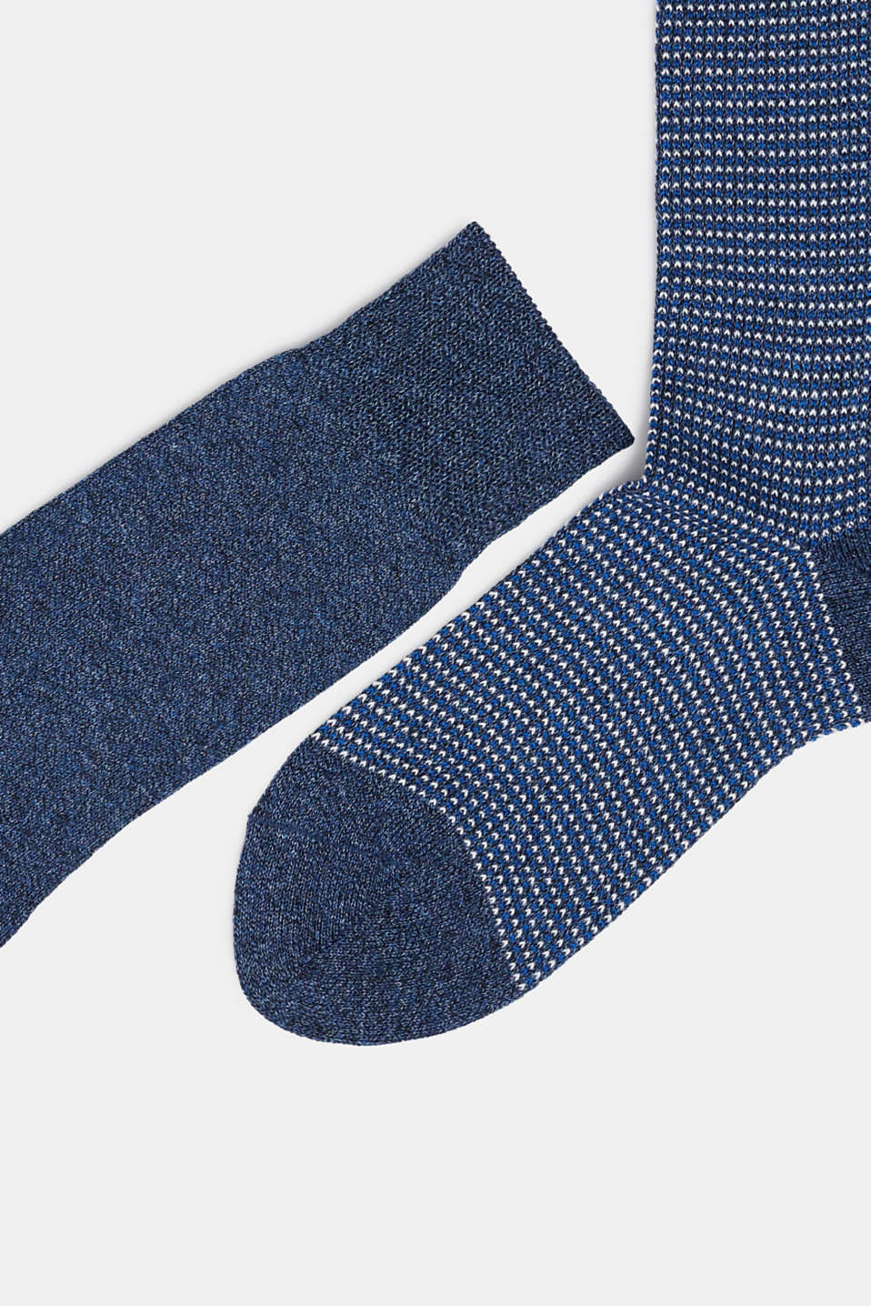 Double pack of blended cotton socks, ENZIAN, detail image number 1