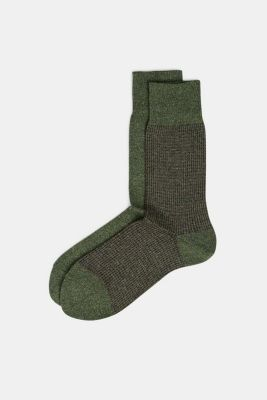 Double pack of blended cotton socks, CALLA GREEN, detail