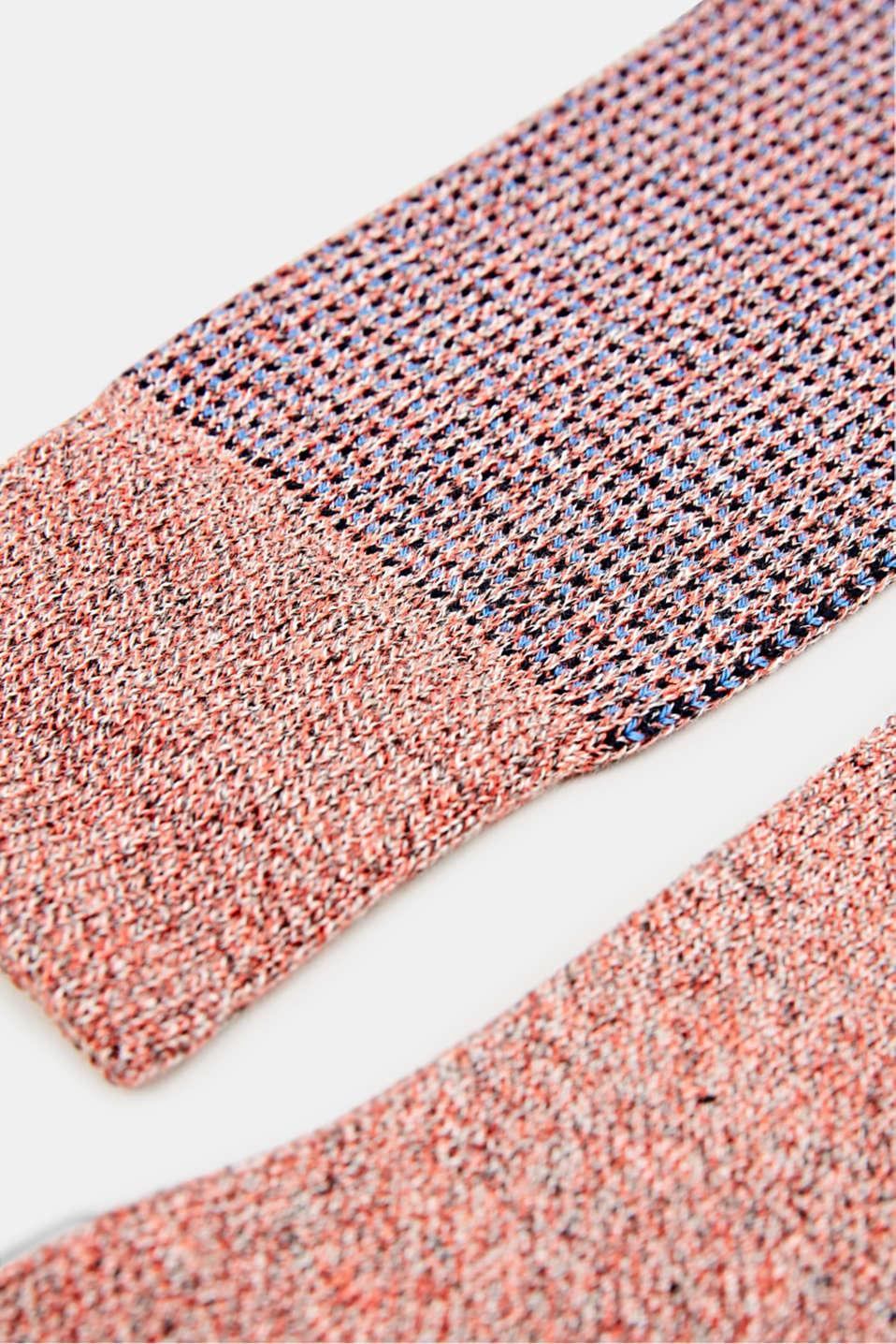 Double pack of blended cotton socks, INDIAN ORANGE, detail image number 1
