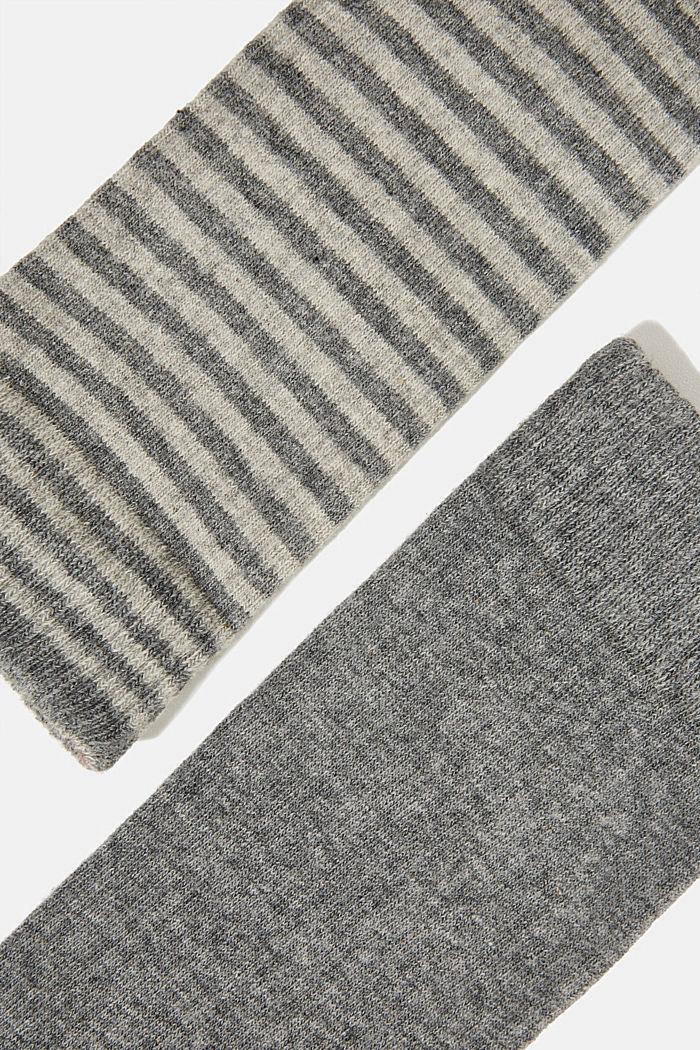 Double pack of blended cotton socks, LIGHT GREY MELANGE, detail image number 1