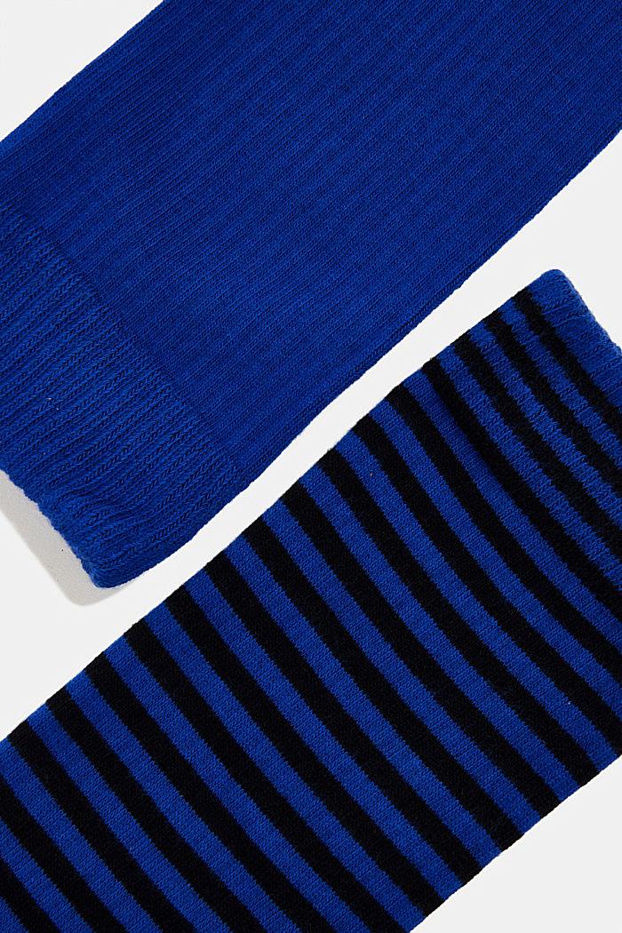 2er Pack Socken aus Baumwoll-Mix, DEEP BLUE, detail image number 1