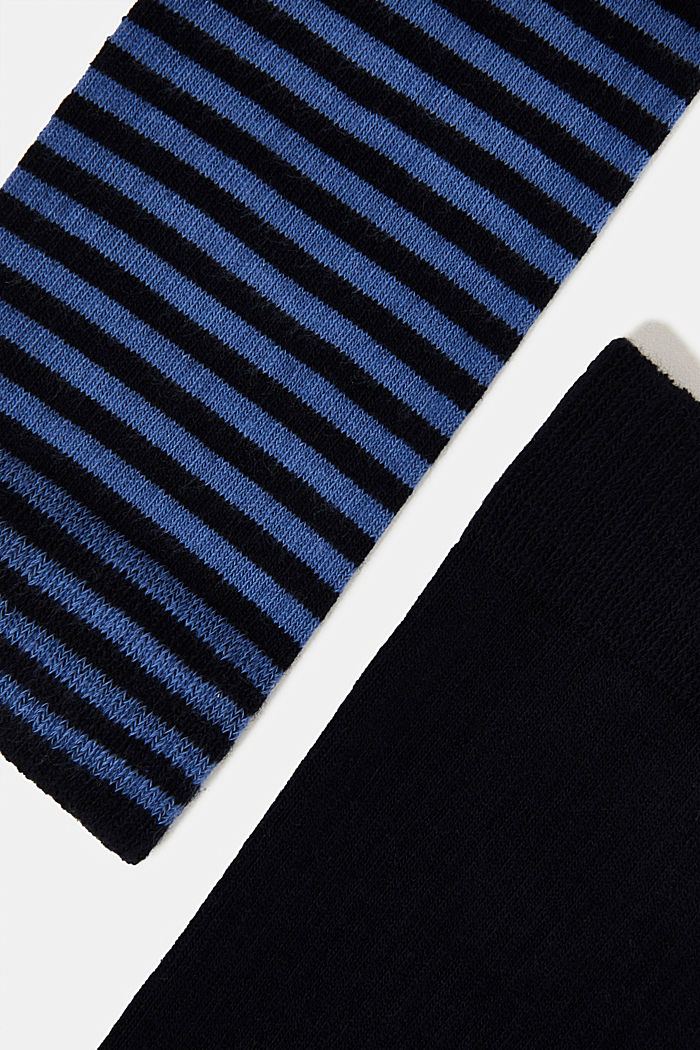 Double pack of blended cotton socks, MARINE, detail image number 1