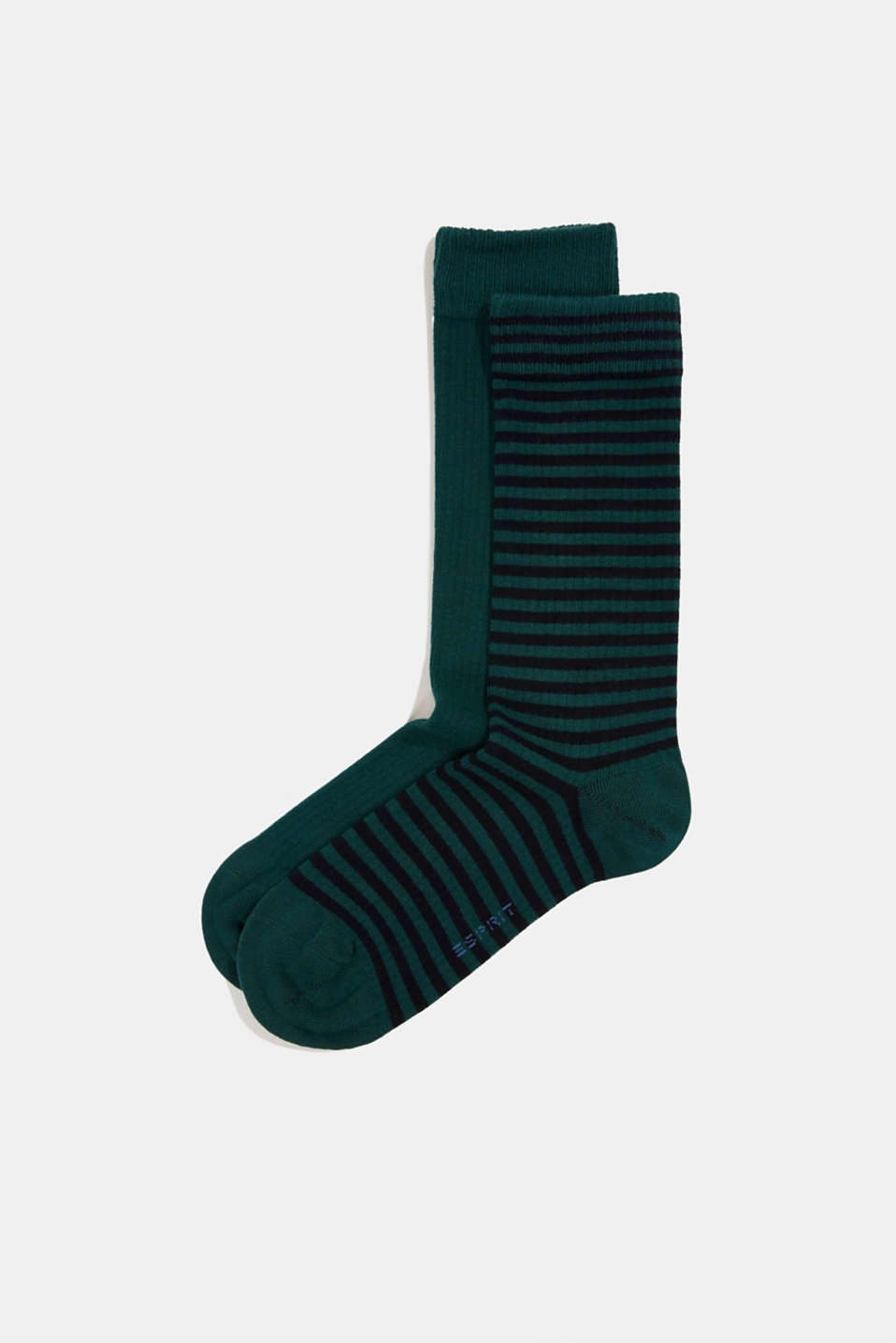 Esprit - Double pack of blended cotton socks