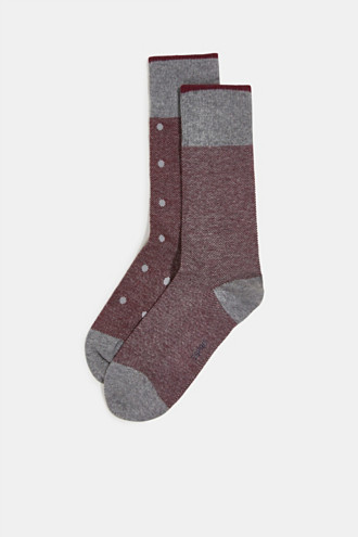 Double pack of blended cotton socks
