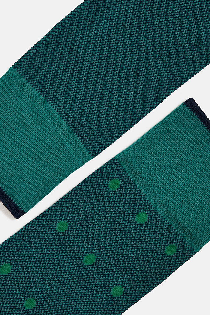 Double pack of blended cotton socks, GREEN, detail image number 1