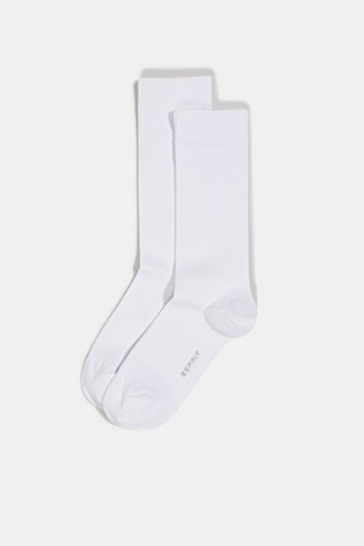 Double pack of socks with a ribbed texture