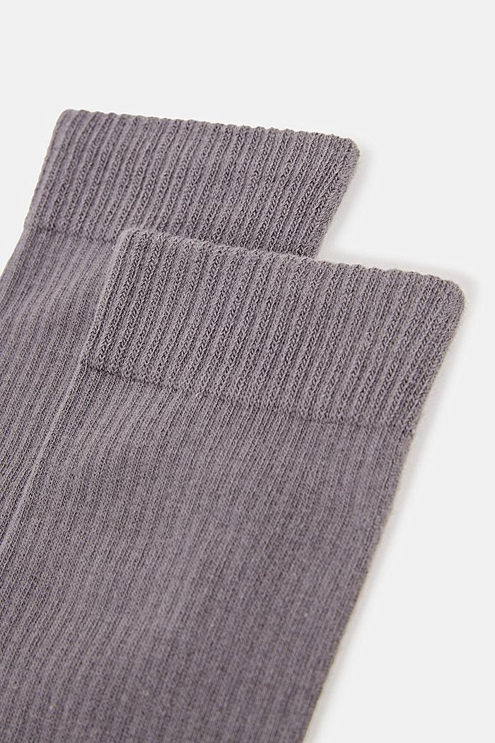 2er-Pack Socken mit Rippen-Struktur, LIGHT GREY MELANGE, detail image number 1