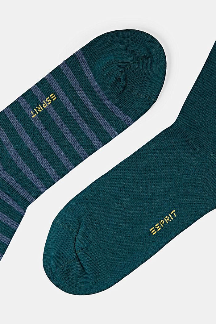 2er-Pack Socken aus Bio-Baumwollmix, PETROL, detail image number 1