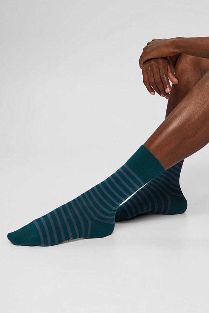2er-Pack Socken aus Bio-Baumwollmix, PETROL, detail image number 2